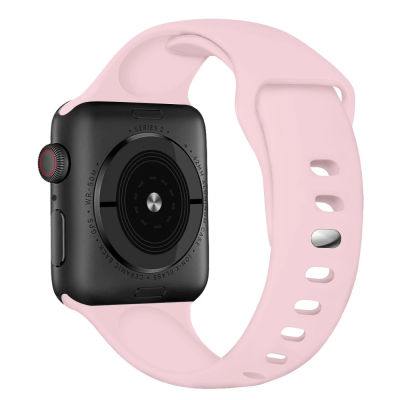 IWatch 6 liquid silicone solo loop - Pink