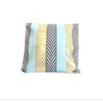 Cushion / Pillow cover on a white, blue and gold cushion 42x42cm