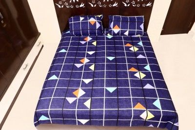 Bedsheet with 2 pillow covers Cotton(no duvet cover)